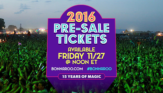 Bonnaroo Music Festival 2016 ticket info. Photo by: Bonnaroo Music Festival