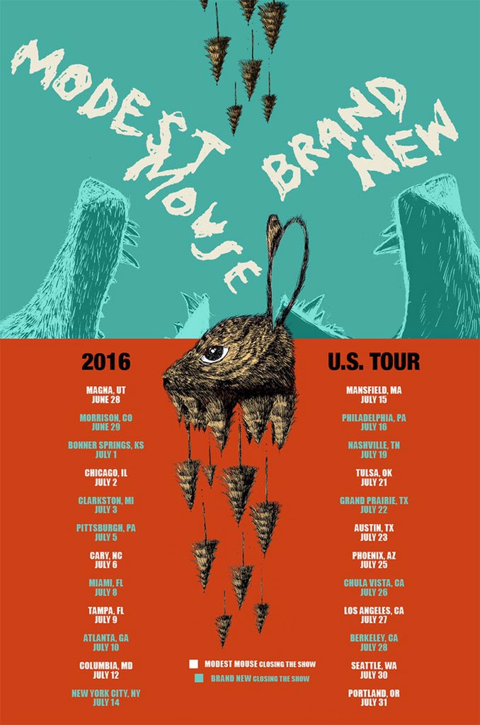 Modest Mouse & Brand New 2016 tour.