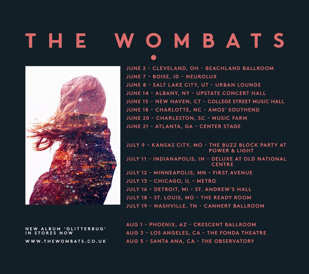 The Wombats 2016 tour. Photo by The Wombats / Twitter
