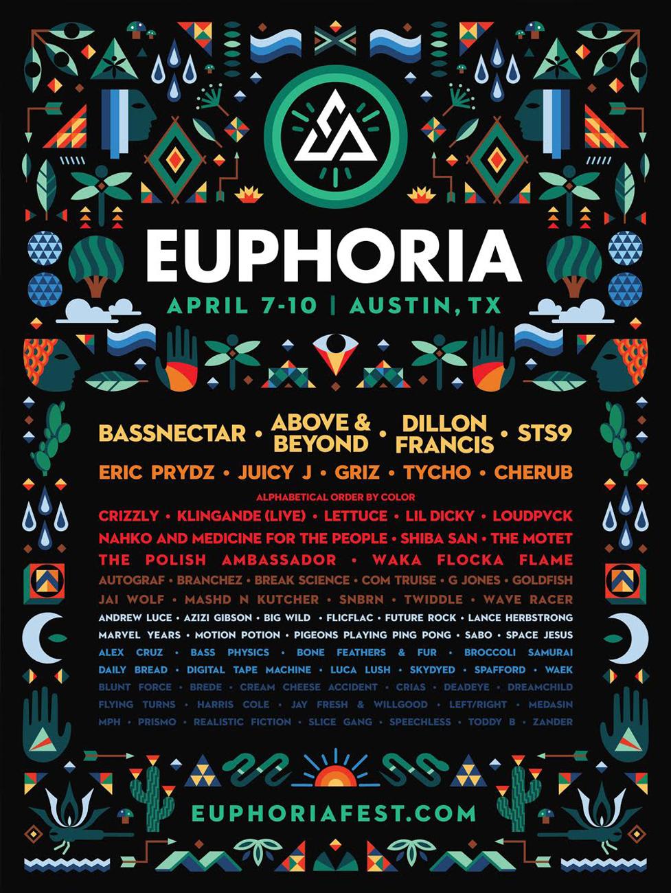 Euphoria Music Festival lineup. Photo provided.
