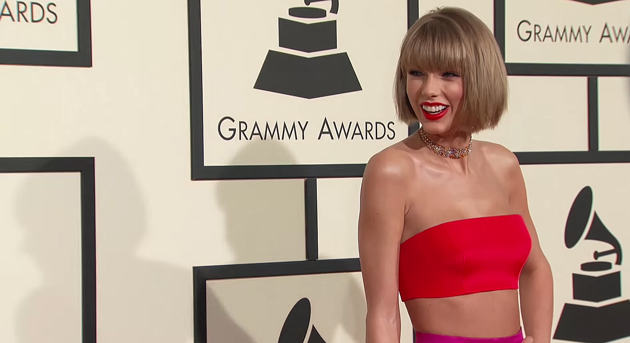 Taylor Swift at the 58th GRAMMY Awards in at the Staples Center in Los Angeles. Photo by: The GRAMMYs / YouTube