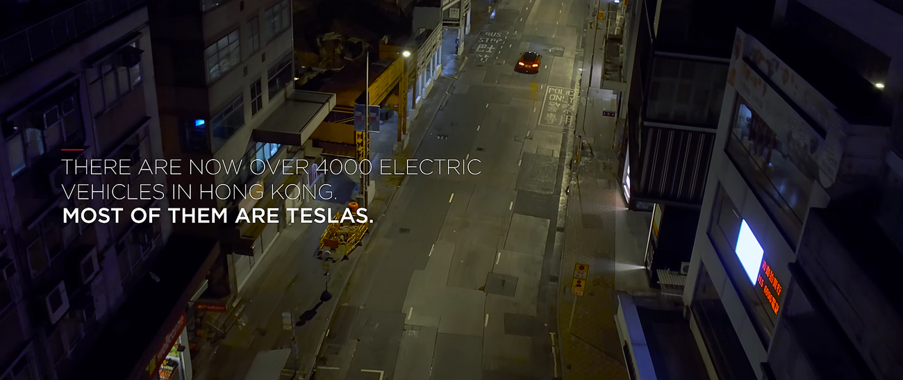 Tesla Motors in Hong Kong. Photo by: Tesla Motos / YouTube