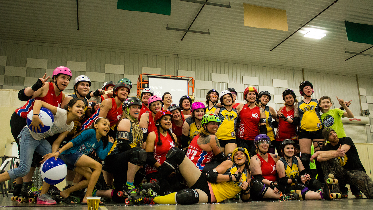 Southern Illinois Roller Girls & Confluence Crush Heartbreakers. Photo by: Matthew McGuire