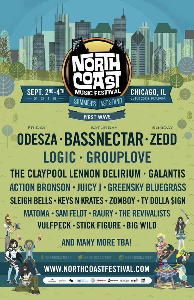 North Coast Music Festival 2016 lineup. Photo by: North Coast Music Festival.