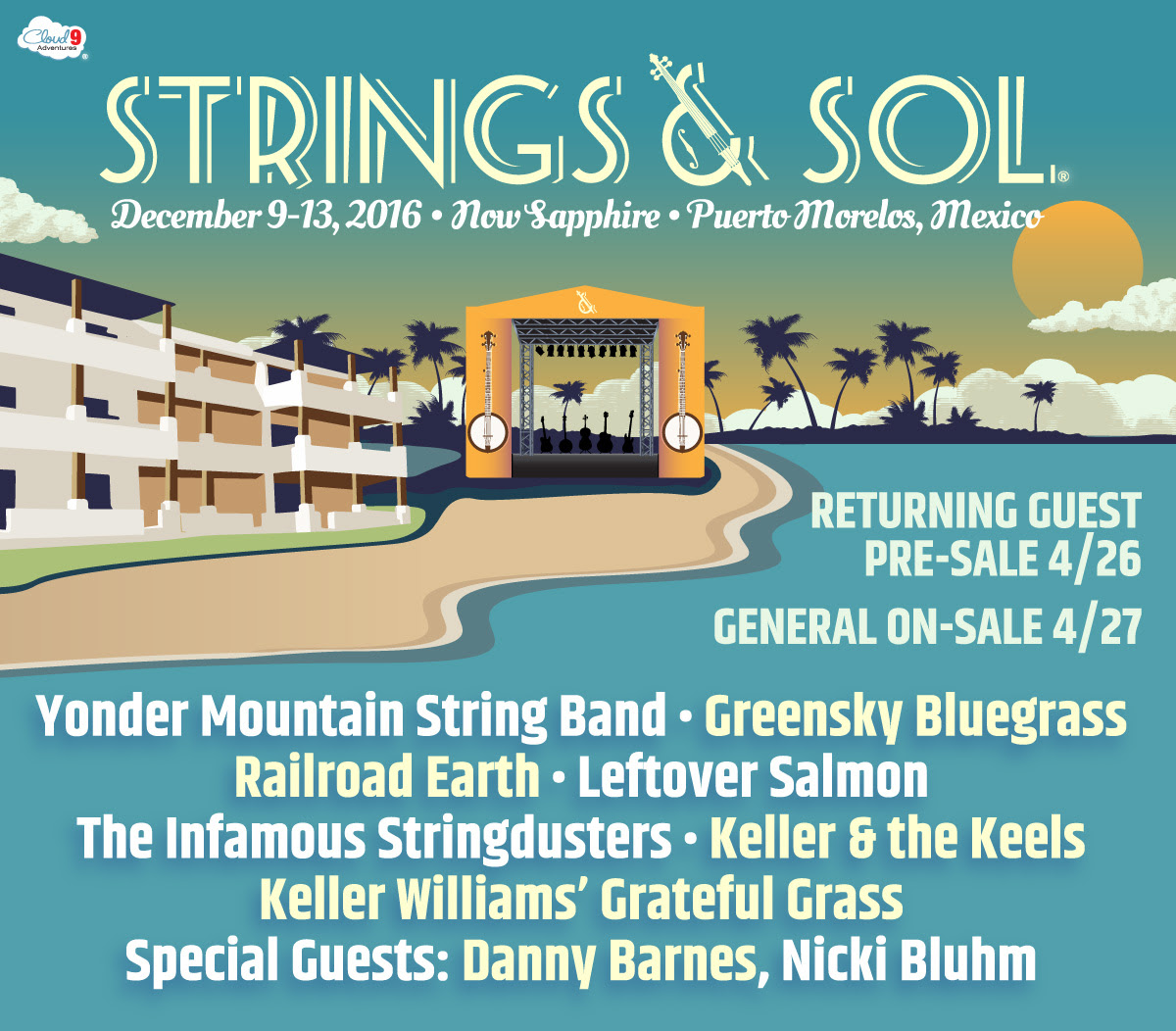 Strings & Sol 2016 acoustic lineup. Photo provided by: Strings & Sol