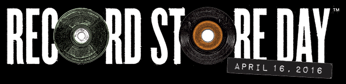 Record Store Day 2016 logo. Photo provided by: Record Store Day