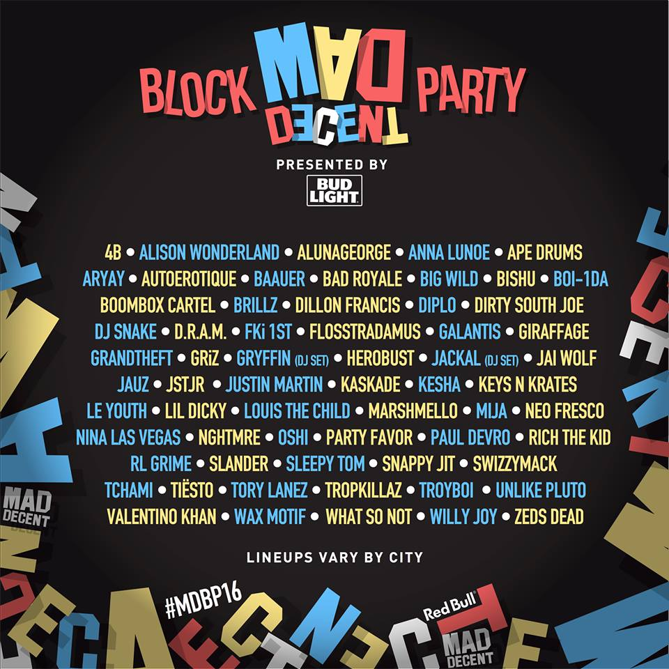 Mad Decent Block Party 2016. Photo provided by: Mad Decent Block Party