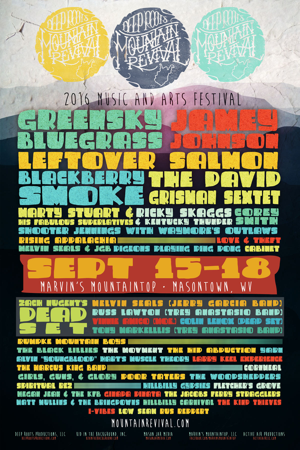 Deep Roots Mountain Revival featuring Jamey Johnson, Blackberry Smoke and more. Photo provided.