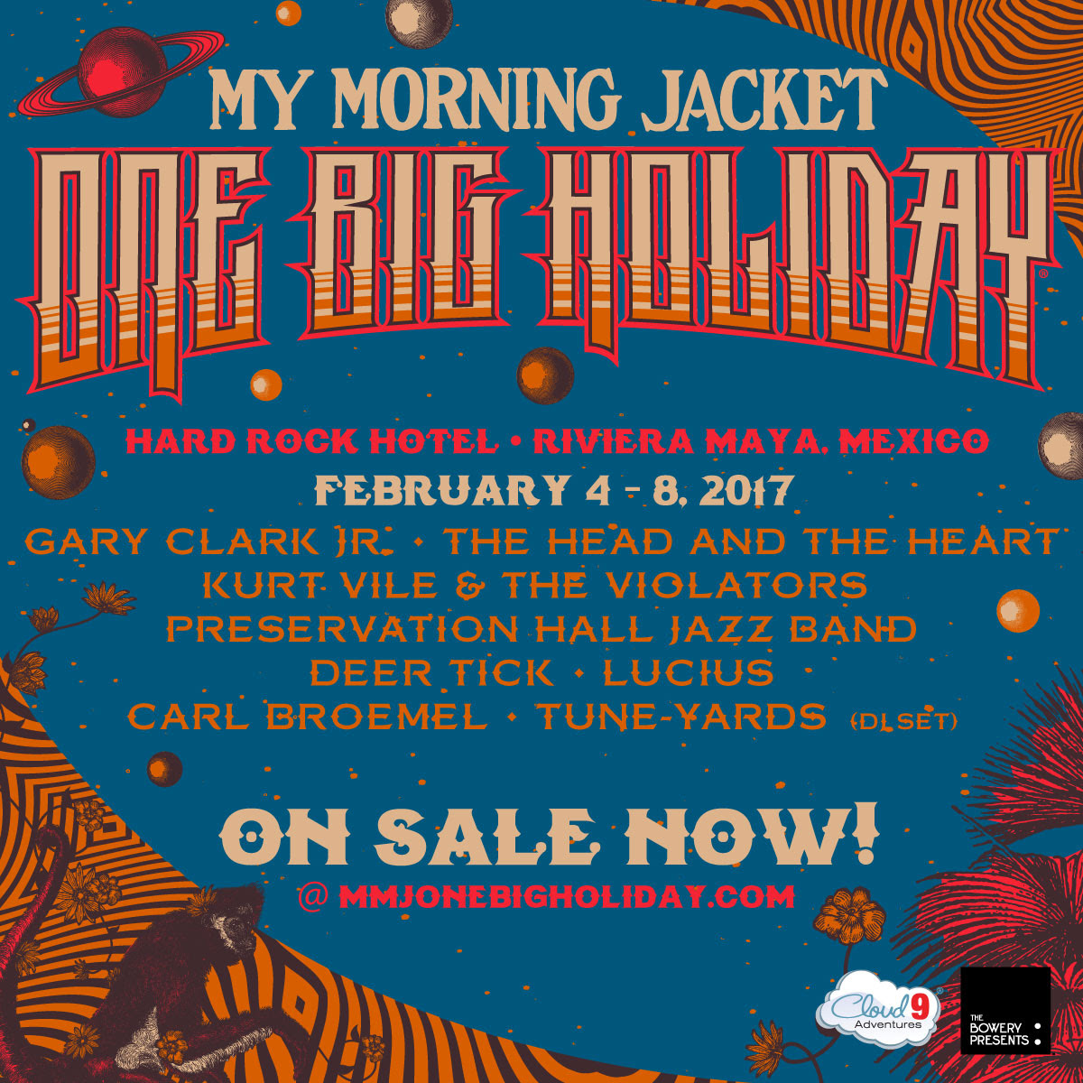 One Big Holiday 2017 with My Morning Jacket. Photo provided.