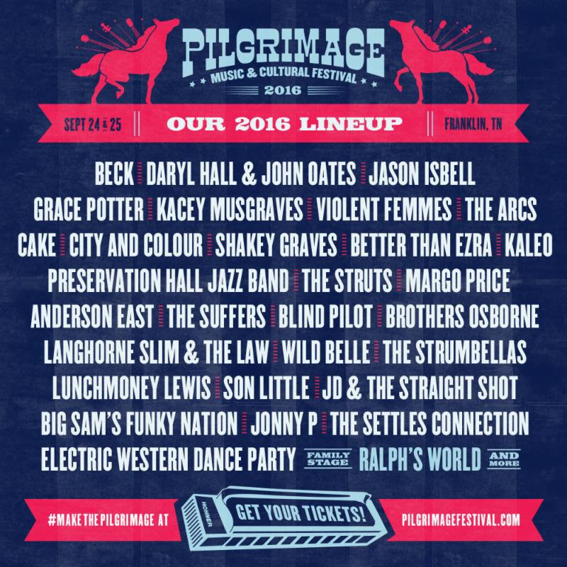 Pilgrimage Music Festival lineup. Photo by: Pilgrimage Music Festival