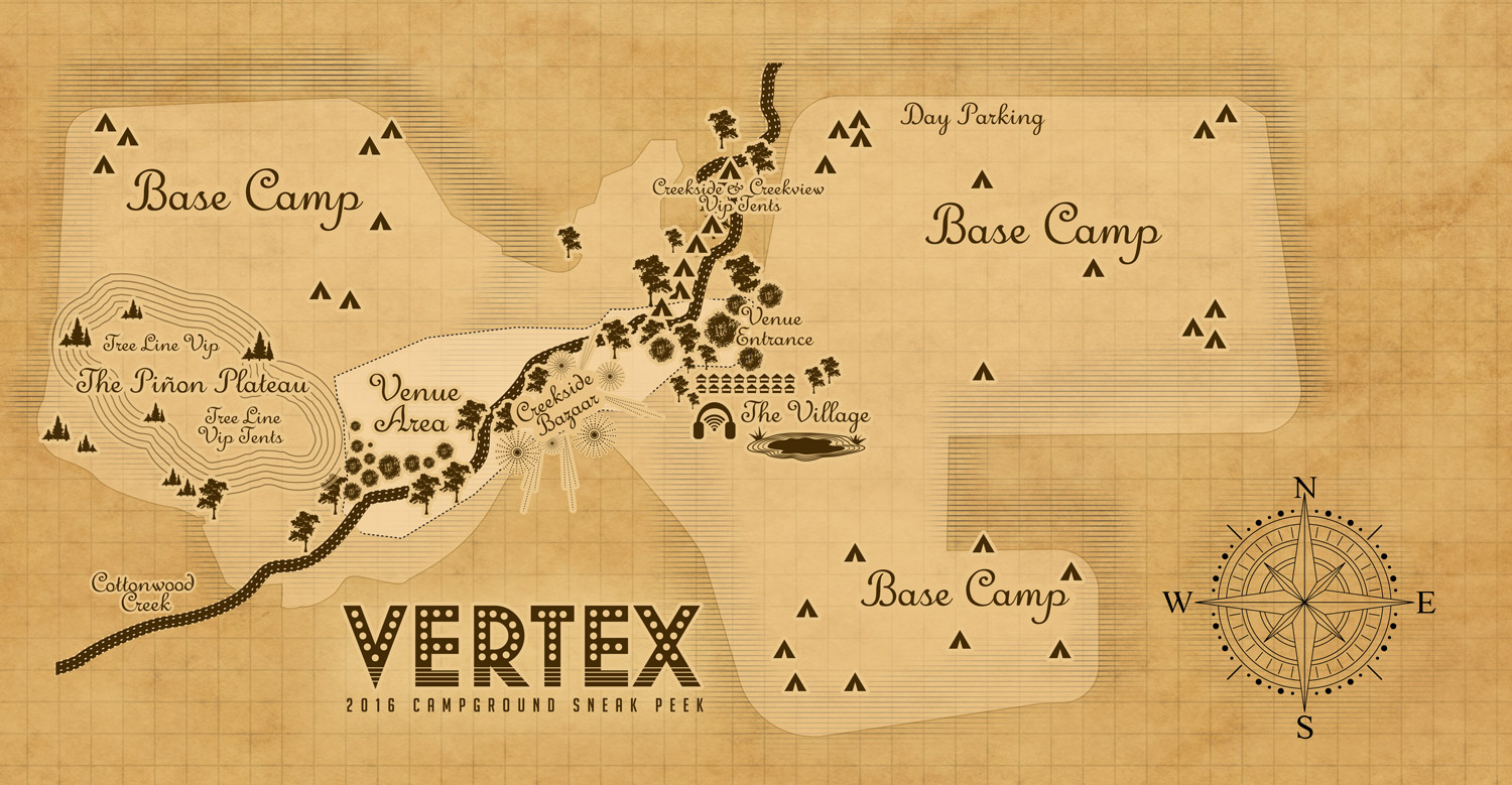 Vertex Festival 2016 map. Photo by: Vertex Festival