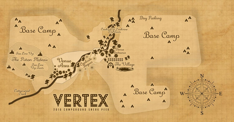 Vertex Festival 2016 map. Photo by: Vertex Festival