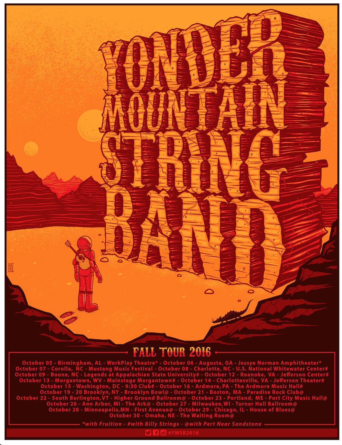 Yonder Mountain String Band Fall Tour 2016. Photo by: Yonder Mountain String Band