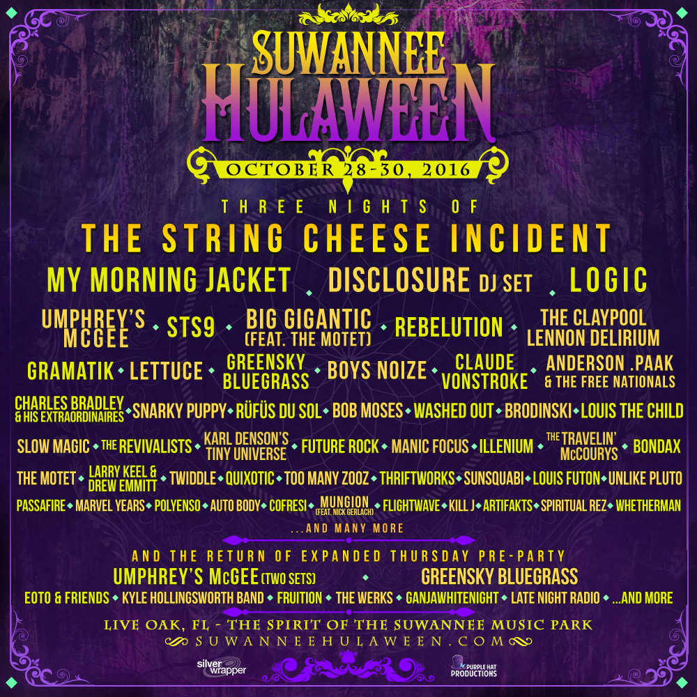 Hulaween 2016 wave two artist addition. Photo by: Suwannee Hulaween