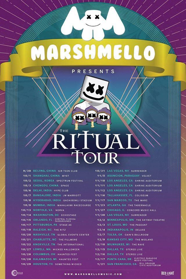 Marshmello world tour. Photo by: Marshmello