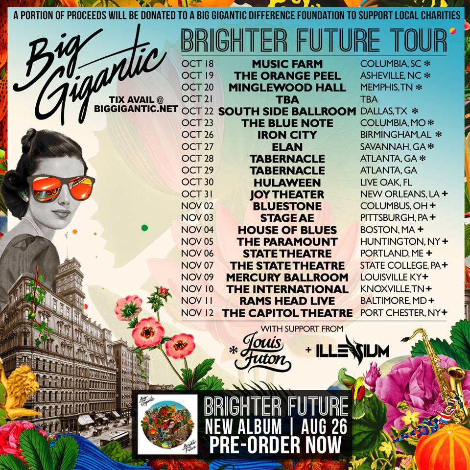 Big Gigantic Brighter Future tour dates. Photo by: Big Gigantic