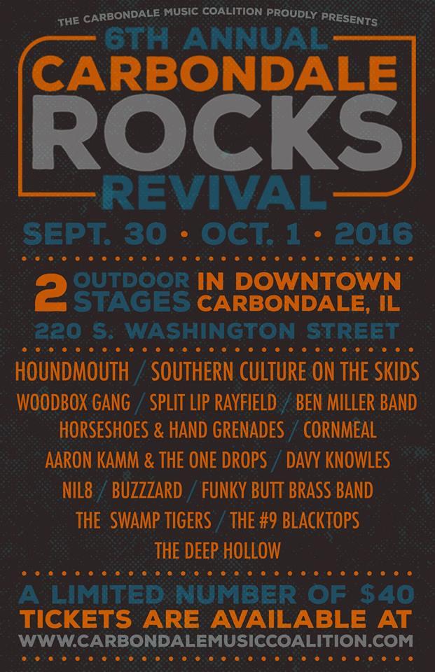 Carbondale Rock Revival 2016 lineup. Photo by: Carbondale Rocks Revival