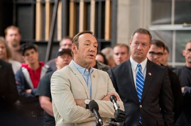 Kevin Spacey, of House of Cards, a television program up for 13 Emmy Awards this evening at the Microsoft Theater. Photo by: Maryland GovPics / Wikimedia Commons