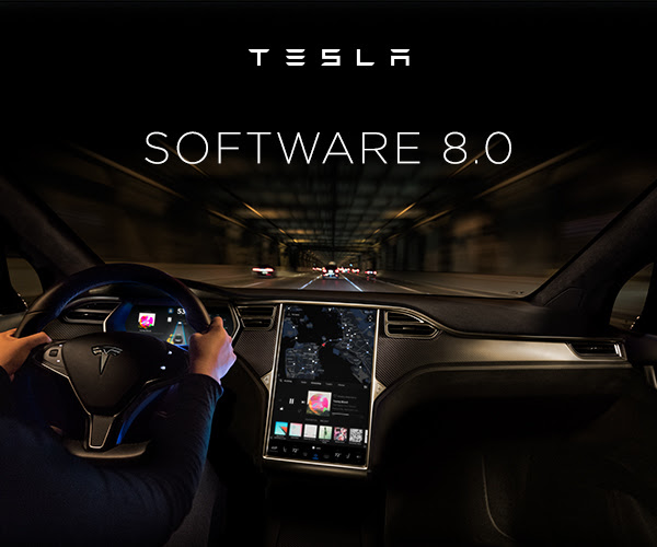 Tesla software update to Maps and Autopilot. Photo by: Tesla Motors