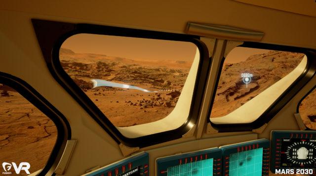 Mars 2030 screenshot from a virtual reality presentation at III Points 2016. Photo provided.