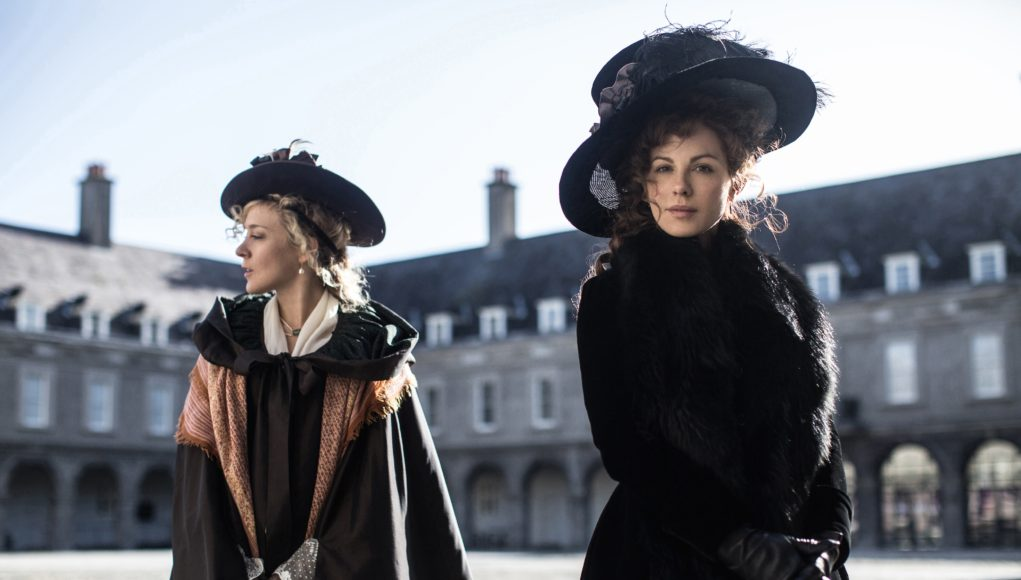 Location images of Love & Friendship, a Jane Austen film adaptation starring Kate Bekinsdale and Chloe Sevigny, directed by Whit Stillman. CHURCHILL PRODUCTIONS LIMITED. Producers Katie Holly, Whit Stillman, Lauranne Bourrachot. Co-Producer Raymond Van Der Kaaij. Also Starring: Xavier Samuel, Emma Greenwell & Morfydd Clark. Photo credit: Ross McDonnell. Photo courtesy: Sundance Film Institute
