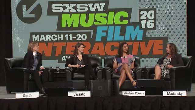 SXSW 2016 'Elephant in the Valley' panel. Elephant on Madison Avenue will be at SXSW 2017 and follow up to the 2016 discussion. Photo by: SXSW / YouTube