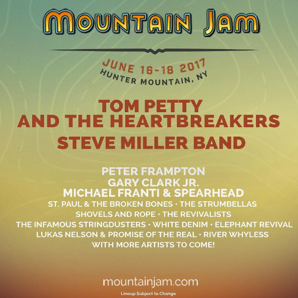 Mountain Jam 2017 lineup. Photo by: The Infamous Stringdusters