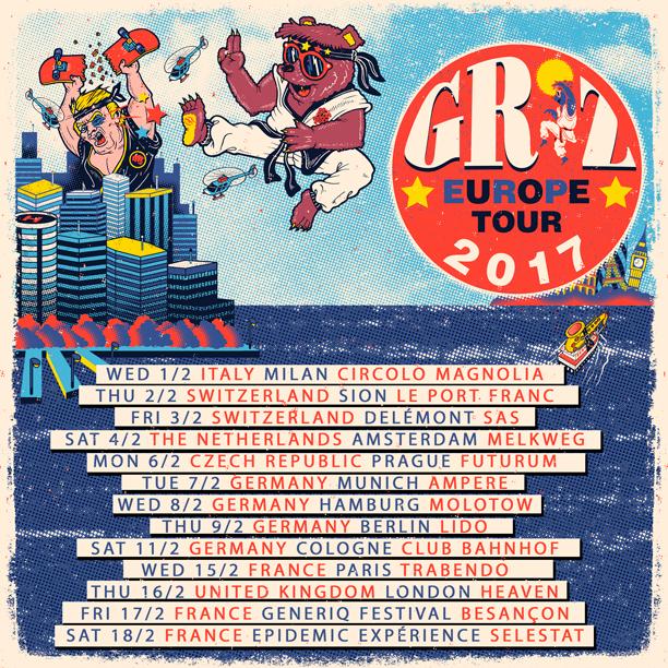 GRiZ Europe Tour Dates. Photo by: GRiZ