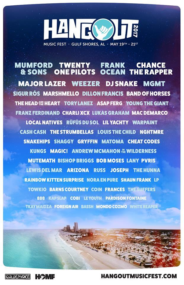 Hangout Music Festival 2017 lineup. Photo by: Hangout Music Festival