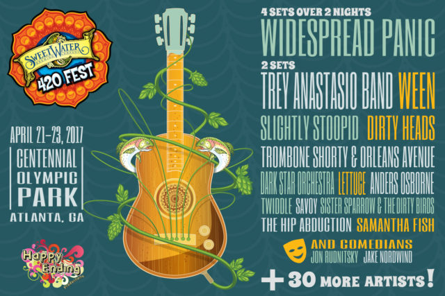 Sweetwater 420 Fest 2017 lineup. Photo by: Sweetwater 420 Fest