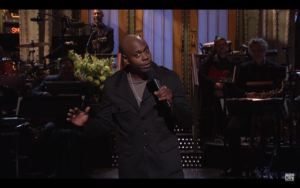 Dave Chappelle Stand-Up Monologue. Photo by: SNL / YouTube