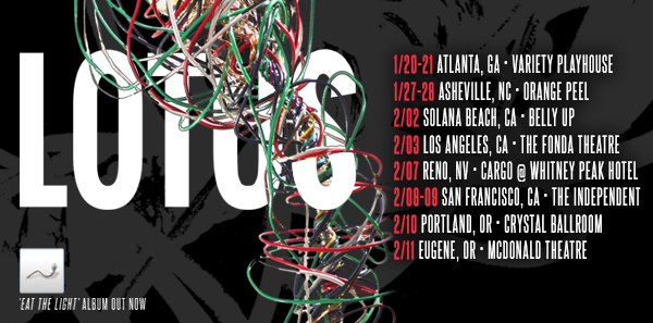 Lotus 2017 Winter Tour dates. Photo provided.