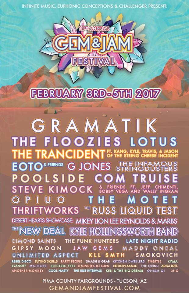 Gem and Jam Festival 2017 lineup. Photo provided.
