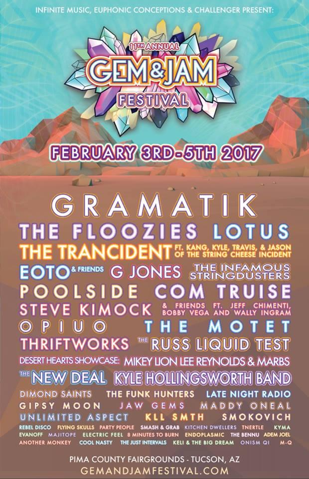 Gem and Jam Festival 2017 lineup. Photo provided.