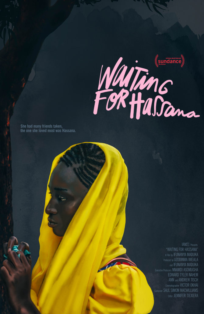 Poster image of Waiting for Hassana by Ifunanya Maduka, an official selection of the Shorts Programs at the 2017 Sundance Film Festival. © 2016 Sundance Institute.