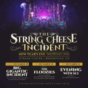 The String Cheese Incident New Year's Eve poster. Photo by: The String Cheese Incident