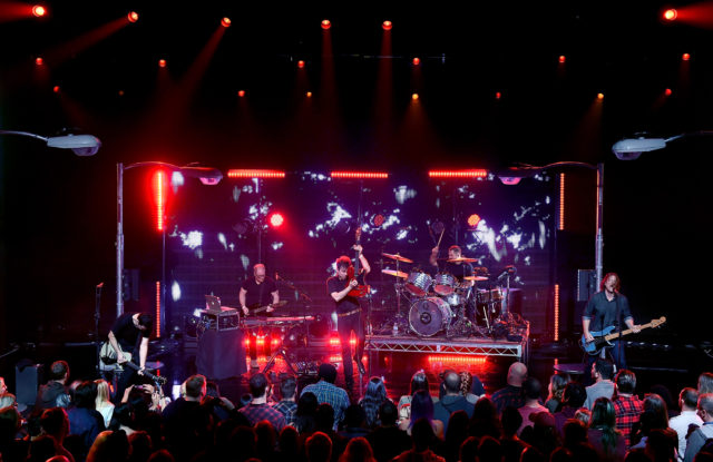 BURBANK, CA - JANUARY 13: Tom Linton, Jim Adkins, Zach Lind and Rick Burch of Jimmy Eat World perform on stage at iHeartRadio LIVE at the iHeartRadio Theater on January 13, 2017 in Burbank, California. (Photo by Kevin Winter/Getty Images for iHeartMedia)
