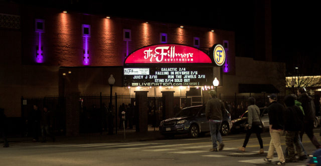 The Fillmore Auditorium in downtown Denver, Colorado. Photo taken on 02/04/17. Photo by: Matthew McGuire