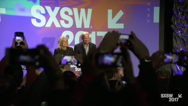 Jill and Joe Biden at SXSW 2017. Photo by: SXSW / YouTube