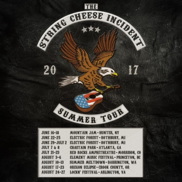 The String Cheese Incident 2017 summer tour dates. Photo provided.