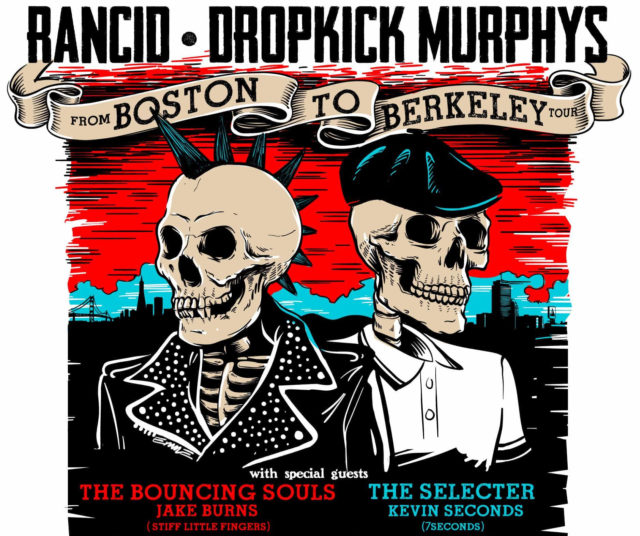 Rancid & Dropkick Murphys From Boston to Berkeley Tour. Photo provided.