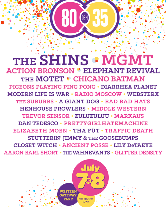 80/35 Music Festival lineup. Photo by: 80/35
