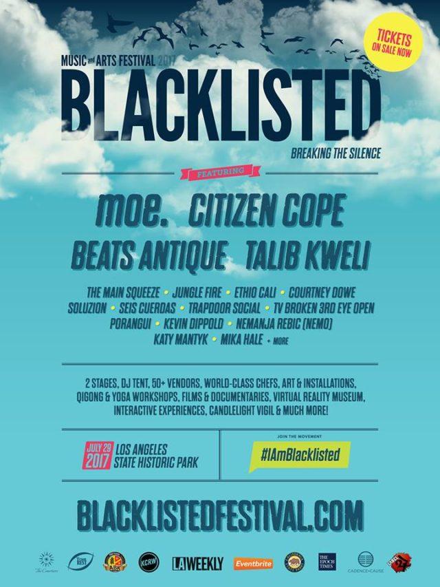 Blacklisted Music + Arts Festival 2017 lineup. Photo by: Blacklisted Music + Arts Festival