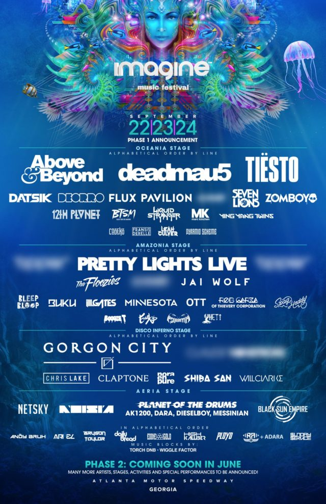Imagine Music Festival 2017 lineup. Photo by: Imagine Music Festival / Twitter