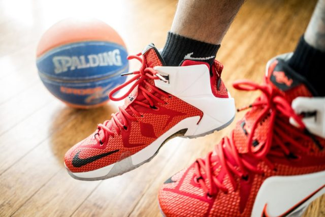 Basketball and athletic shoes. Photo by: Pixels.com