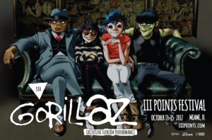Gorillaz at III Points Festival. Photo by: III Points