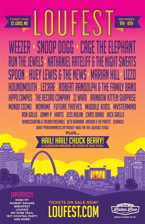 LouFest Music Festival 2017 lineup. Photo by: LouFest