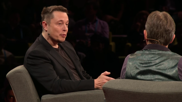 Elon Musk at TED Talks. Photo by: TED Talks / YouTube