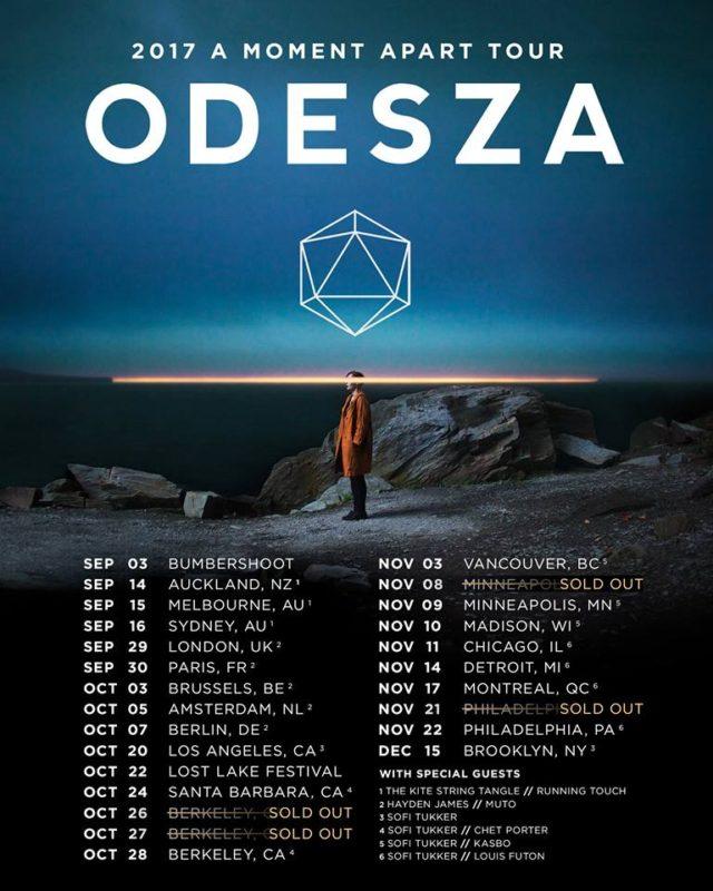 ODESZA 2017 tour dates. Photo by: ODESZA