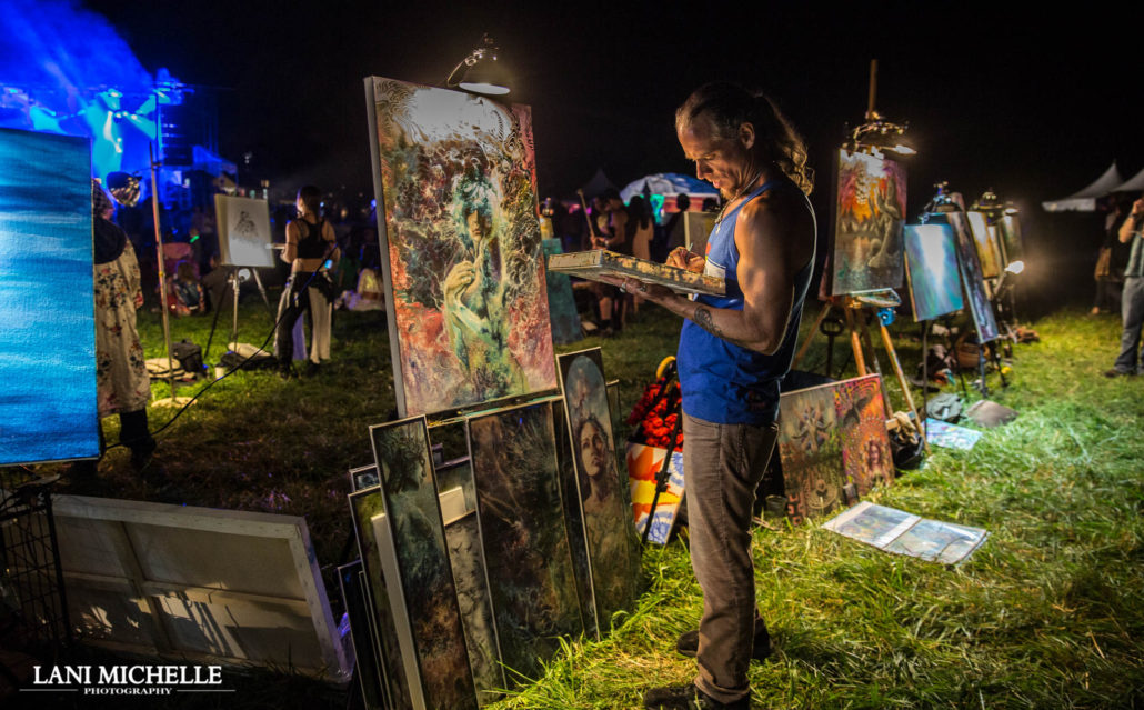 Live painting taking place at ARISE Music Festival. Photo by: Lani Michelle Photography. Photo provided by: ARISE Music Festival
